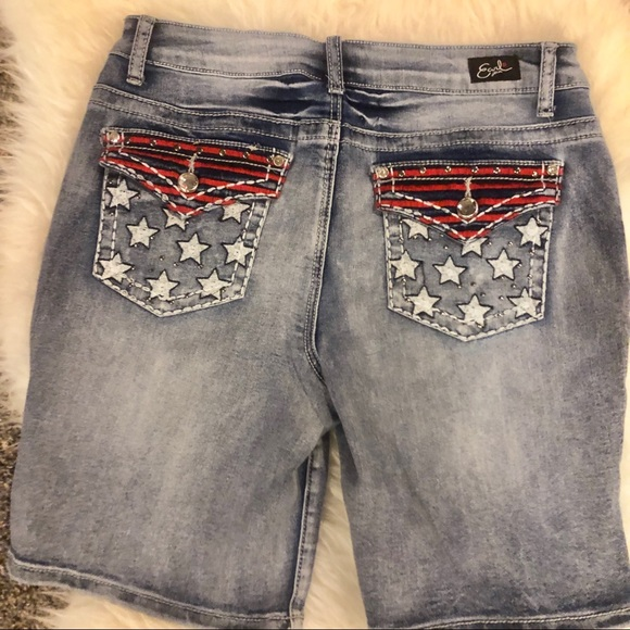 d4a405a7e0 Earl Jeans Shorts | Stars And Stripes Themed Denim | Poshmark
